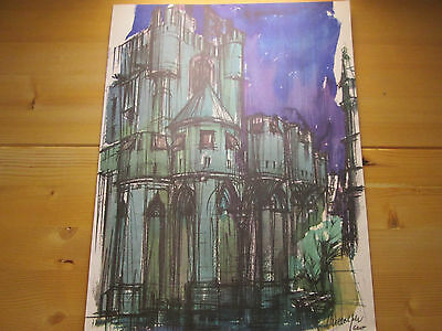 Gent. Farbige Lithografie 42,5 x 32,5.