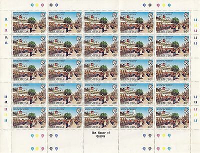Bermuda. Sg 450 40 Cent Stamp In Unmounted Mint Block Of 25 With Selvedge.