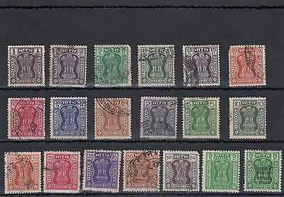 Inda.19 -- 1967/76 Used Stamps On Stockcard