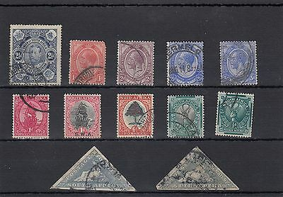 South Africa.12 -- Early/g5 Used Stamps On Stockcard