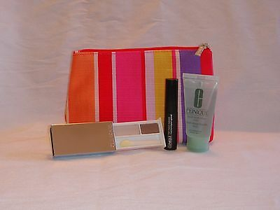 Brand New CLINIQUE Make up Bag with Three Travel Sized Items