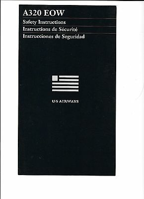 US Airways Airlines A320 EOW Safety Card (8/04)