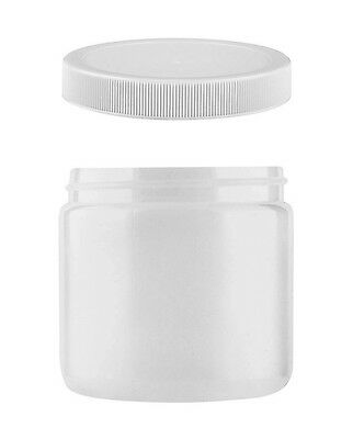 Wide Mouth 16 oz Food Safe Jar With Pressure Seal Lid, Translucent HDPE Plastic