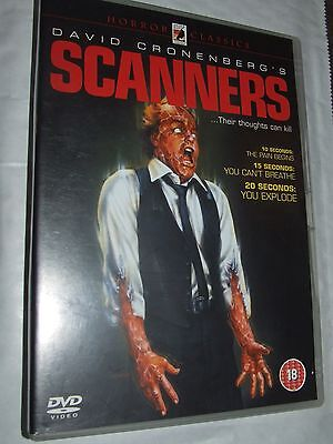 SCANNERS Michael Ironside, Stephen Lack  David Cronenberg DVD
