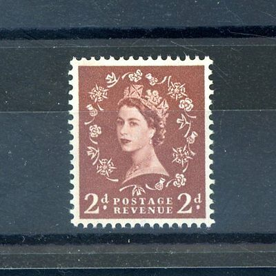 Great Britain 1960  2d (SG 613)  Left Band Phosphor,  unmounted MINT (J1032)