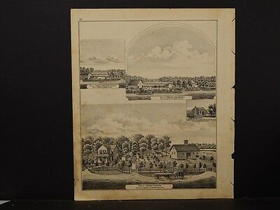 Indiana, Grant County Map 1877 Engravings, Liberty, Res. of B.E. Pattison J3#34