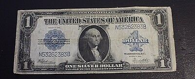 1923 $1 United States  Blue Seal Silver Certificate Large Note F