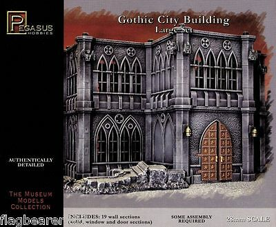 Pegasus 4923 Gothic City Building Large Set. Plastic. For 28Mm Scale Figures.