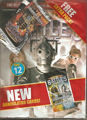 Rare! Dr Who Battles In Time #12 - Cyber Leader! + 2 Packs Of Trading Cards [0]