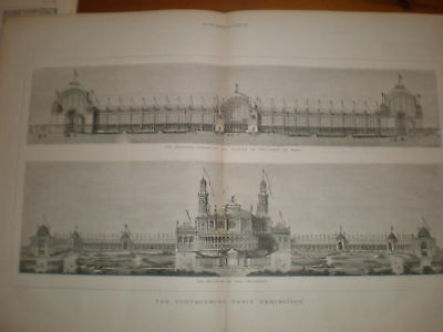 Forthcoming Paris Exhibition buildings France 1877