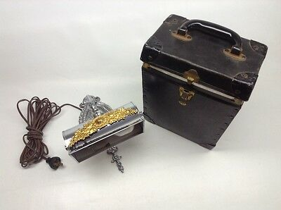 Vintage Rare Chrome Plated Funeral Casket Porch Lamp For Viewing