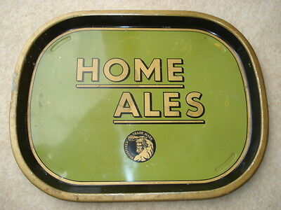 C1950S Vintage Home Ales Advertising Drinks Tray