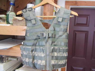 MOLLE II Fighting Load Carrier Vest ACU CAMO LBV FLC Tactical US Army VG