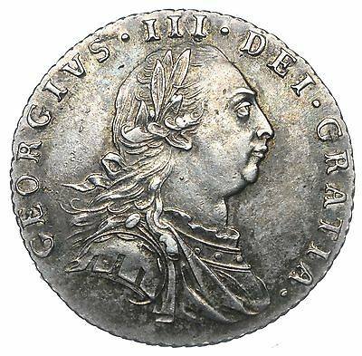 1787 Sixpence - George Iii British Silver Coin - V Nice