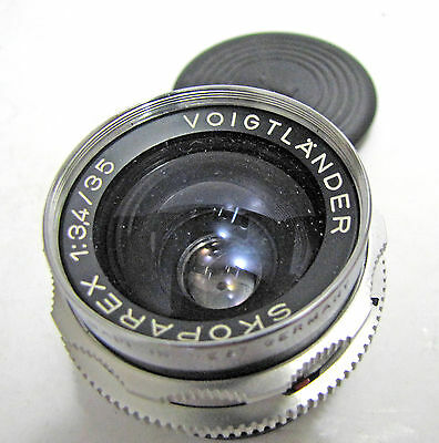 Vintage Voigtlander Skoparex 35mm 3.4 Wide Angle Manual Focus DKL Camera Lens