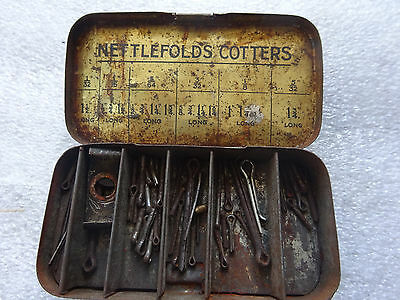 Vintage Nettlefolds Cotters Pins in original tin container