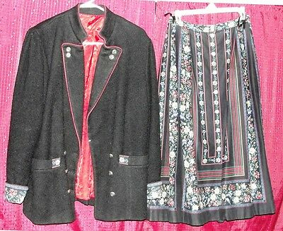 Rose Dirndl Skirt Suit  (German: skirt 38, jacket 42)