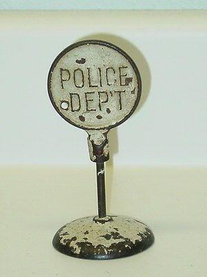 "Vintage Cast Iron ""Police Dep't"" Road Sign"