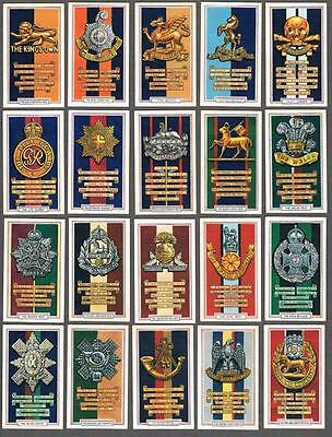 1939 Gallaher Cigarettes Army Badges Tobacco Cards Complete Set of 48