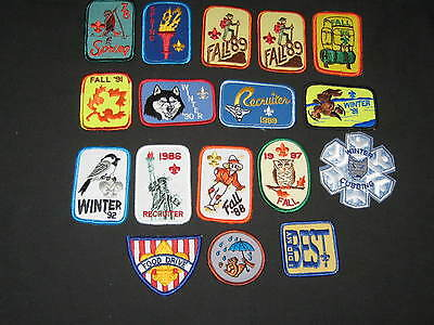 Boy Scout National Issue Generic Patches Lot of 17   c4