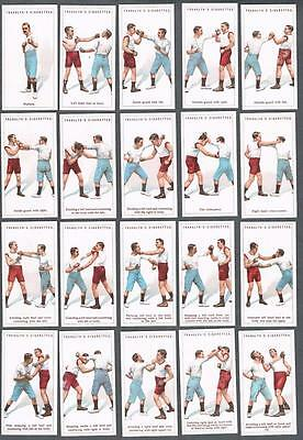 1924 Franklyn Davey Cigarettes Boxing Tobacco Cards Complete Set of 25