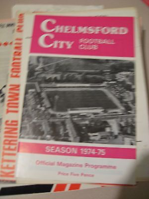 1974-75 Chelmsford City v Kettering Town Southern League Premier 16.9.1974