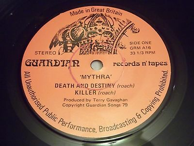 "Mythra "" Death And Destiny "" Rare 7"" Single Guardian Record Label NWOBHM"