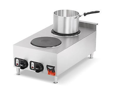 """Vollrath Cayenne 15"""" Electric 2 Burner Hot Plate Range Counter Top - 40739"""