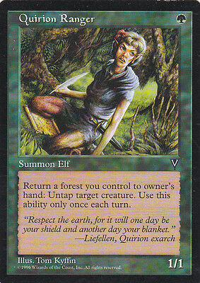 1 x Quirion Ranger green creature from Visions (magic the gathering)