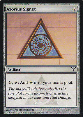1 x Azorius Signet common artifact from Dissension (magic the gathering)