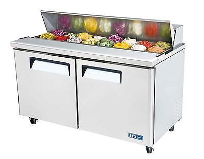 "Turbo Air 60"" Sandwich Salad Prep Cooler Holds 16 Pans MST-60"