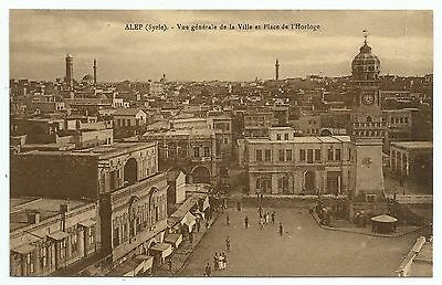 POSTCARDS-MIDDLE EAST-ALEPPO-PTD. A General View of The Clock Tower & Square.
