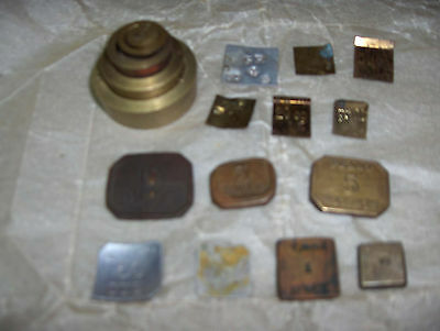 Many Different Vintage Apothecary Chemist Scale Weights