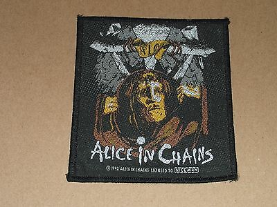 Alice In Chains   - Original Fabric  Sew On Patch 1992