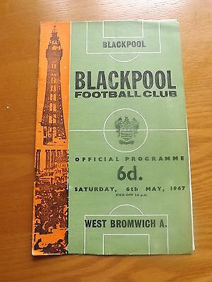 BLACKPOOL v WEST BROMWICH ALBION - Division One 1966/67