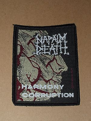 Napalm Death  , Harmony Corruption   - Original Fabric  Sew On Patch 1991