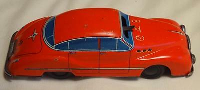 Figuro Biller Patent Tin Plate Wind Up Car - Made In Us Zone Germany