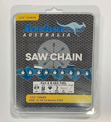 """18"""" Chainsaw Chain .325 063 74 drive link replaces Stihl 26RM74 Oregon 22BPX074G"""
