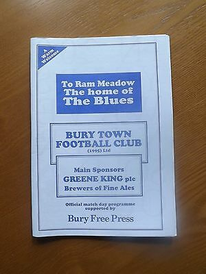 BURY TOWN v NEWMARKET TOWN - Eastern Counties Lge 1996/97