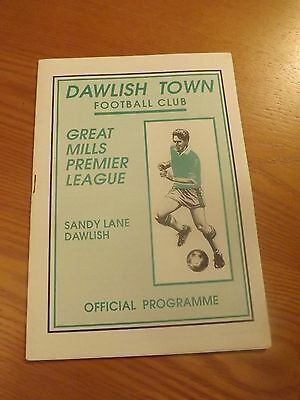 DAWLISH TOWN v EXMOUTH TOWN - Western Lge 1992/93