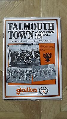 FALMOUTH TOWN v WADEBRIDGE TOWN - South Western Lge 1995/96