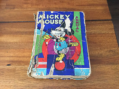 Rare 1933 Mickey Mouse Annual With Racial Epithets Complete NICE!!!!