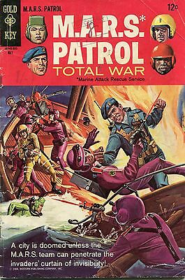 Mars Patrol # 5 - Gold Key - Cents Copy - Painted Cover - Scarce In Uk