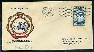 #733 Byrd Antarctic Expedition FDC Rice Cachet