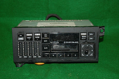 AM FM Cassette Stereo with Equalizer 89 90 91 Chrysler Maserati TC Infinity OEM