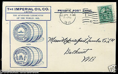 2259 - Canada ST JOHN NB 1911 Imperial Oil ILLUSTRATED Advertising Postcard