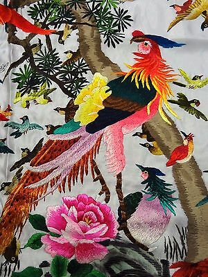 Handwoven Silk Chinese Embroidery - 100 Birds (106 cm x 46 cm)#3