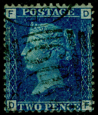 Sg46, 2d blue plate 14, used. Cat £27. DF