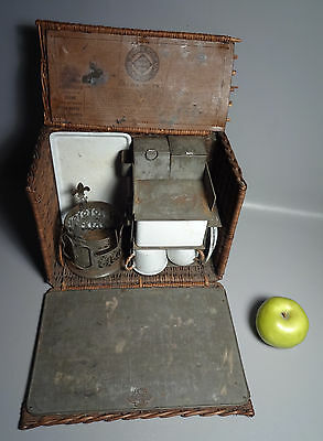 Antique c1890 Drew & Sons Piccadilly Circus, London Traveling Tea Set English