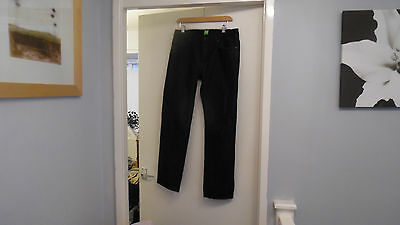 Mens Hugo Boss Green Label Black Colour Stretch Jeans W32 & L29